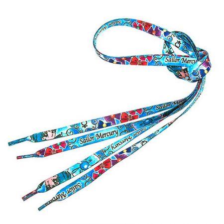 Custom Full Color Printed Flat Shoelaces - Custom Full Color Printed Flat Shoelaces