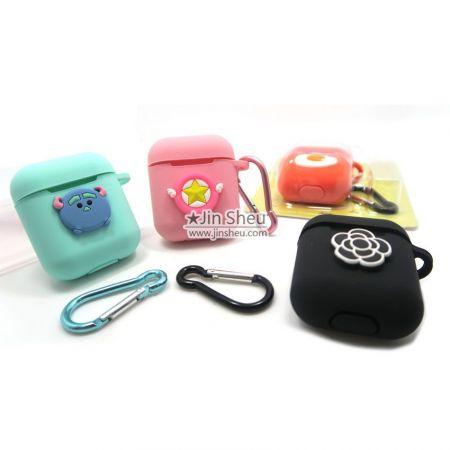 bulk silicone wireless bluetooth headphone pouch