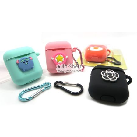 bulk silicone wireless bluetooth headphone pouch