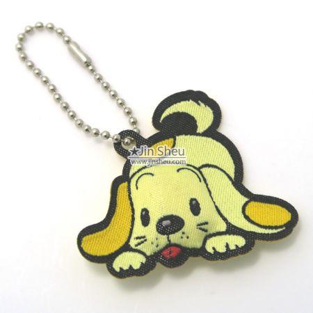 Puffed Woven Key Tags - Padded Dog Bag Keychain