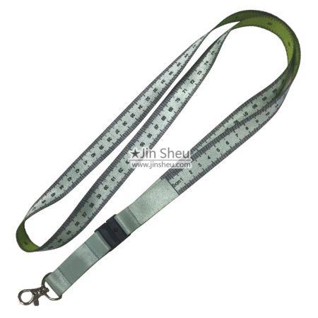 Measuring Tape Lanyard - Dye Sublimation Measuring Tape Lanyard