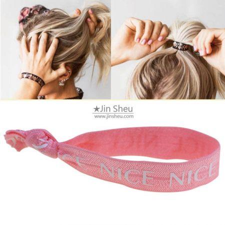 custom elastic hair ties