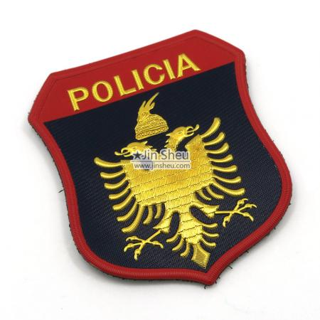 3D Embossed Logo PVC Police Patch - 3D Embossed Logo PVC Police Patch