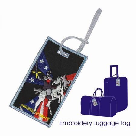 Personalized Embroidered Luggage Tags - Personalized Embroidered Luggage Tags