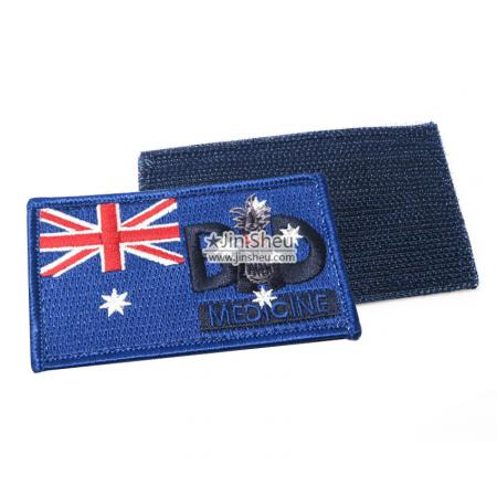 Australian National Flag Patch - Custom Embroidery Flag Velcro Patch
