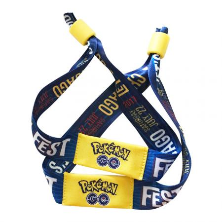 Custom Fabric Anime Festival Wristbands - custom woven fabric festival wristbands