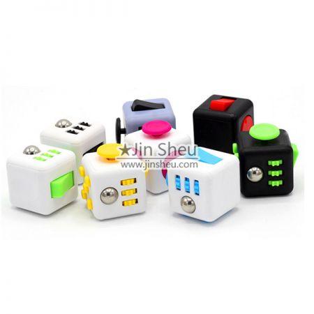 E) Relieves Stress Fidget Cubes - anti stress fidget cubes