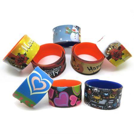 Snap Bands/ Slap Wraps - silicone slap band with custom logos