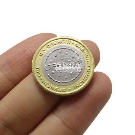 bi-metal casino coins