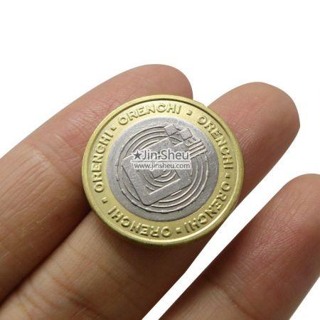 bimetallic game token coins