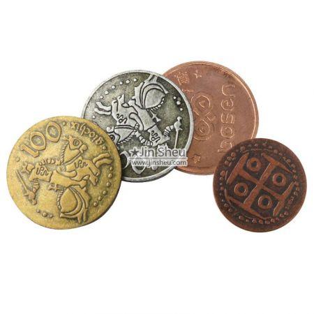 custom metal arcade tokens