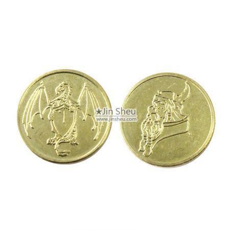 fake gold plated gambling tokens