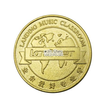 stamped brass card game coins