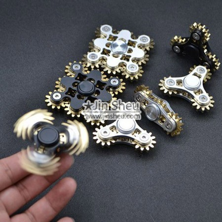 F) Real Gear Fidget Spinners - 9 Gear fidget hand spinner