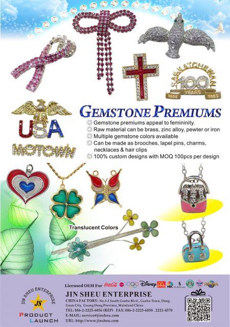 Custom Gemstone Brooches - Custom Gemstone Brooches