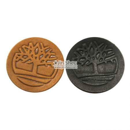 Embossed Genuine Leather Labels - Embossed Genuine Leather Labels
