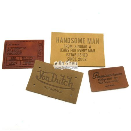 Personalize Leather Knitting Label - Personalize Leather Knitting Label