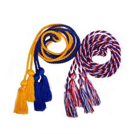 Two Color Braided Graduation Honor Cords - Two Color Braided Graduation Honor Cords