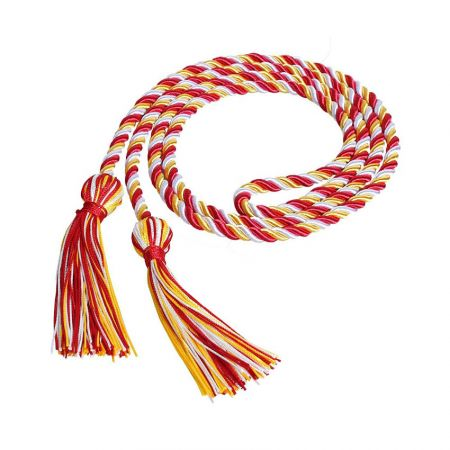 Custom College Honor Cords - Solid Color Royal Blue Honor Cord
