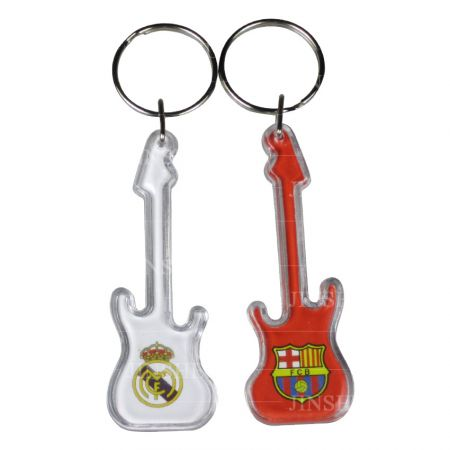 Promotional Guitar & Bass Acrylic Keychain - Promotional Guitar & Bass Acrylic Keychain