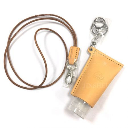 leather holder for hand purifier lotion