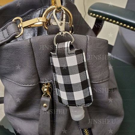 custom leather travel sanitizer holder