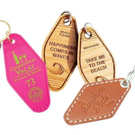 Promotional Hotel Key Tags & Motel Keychains - Custom Blank ABS Plastic Hotel Motel Key Tags