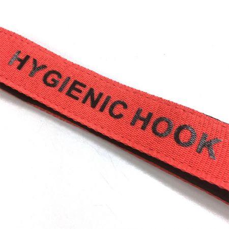 custom hygienic hook with silkscreen printed logo