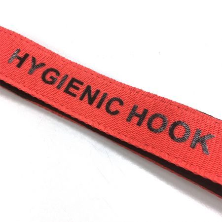 custom hygienic hook with silkscreen printed logo