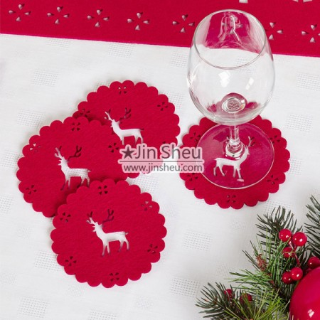 Felt Coasters and Placemats - Laser Cut Felt Coasters and Placemats