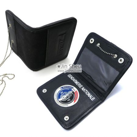 Leather Hidden Badge Wallet - Leather Hidden Badge Wallet