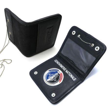 Leather Hidden Badge Wallet - Leather Hidden Badge Wallet