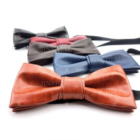 wholesale custom leather bow ties