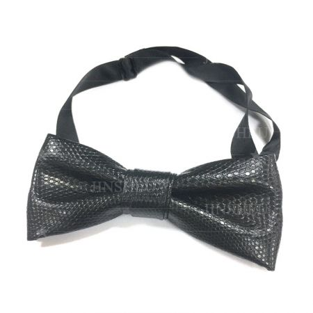 wholesale men PU leather bow ties