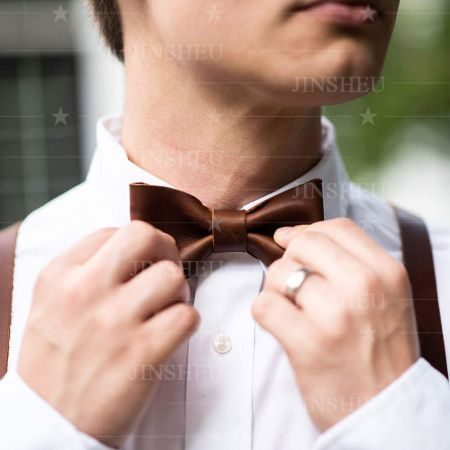 customized leather bow ties