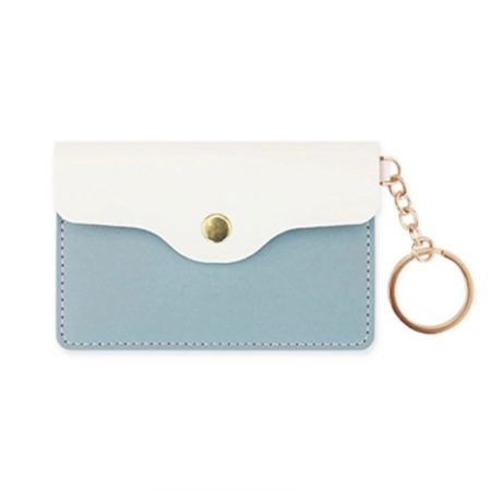 wholesale custom fashionable leather card pouch