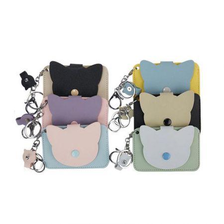 bulk custom shaped leather card mini bags