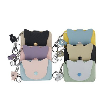 bulk custom shaped leather card mini bags