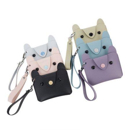custom design cute leather credit card purse