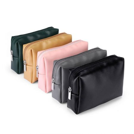 personalized bulk leather zipper bags