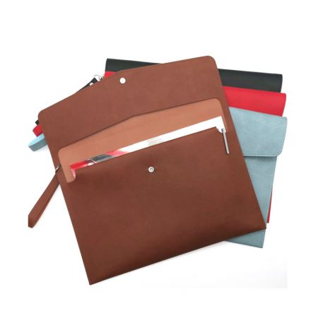 personalized leather envelope clutch bags
