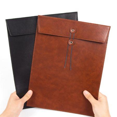 bulk custom leather document file folders