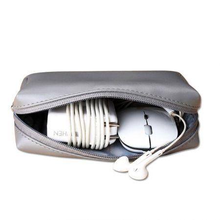 wholesale custom leather zipper bags