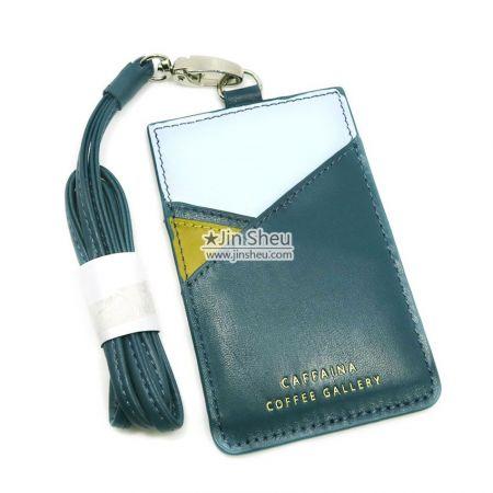 Leather Badge Card Holder - Leather Badge Card Holder