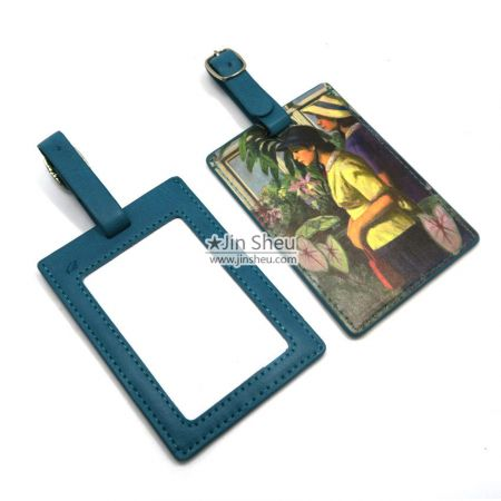 personalized PU leather luggage tag