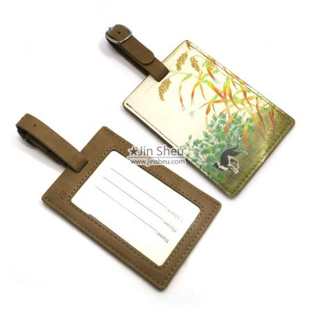 Wholesale travel leather luggage tags