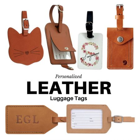 Personalized Leather Luggage Tag - Personalized Leather Luggage Tags