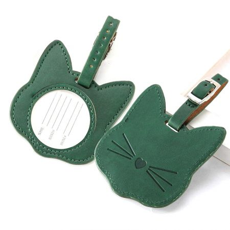 custom made cat designed luggage tags