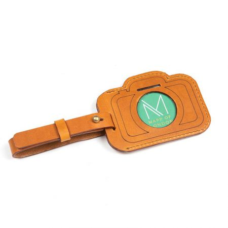 personalized laser cut camera shaped luggage tag