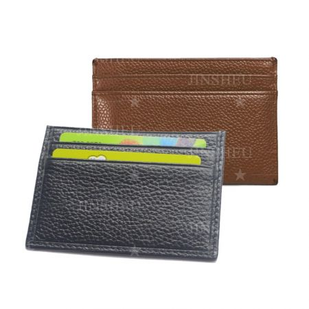 slim leather business card holders